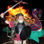 "Wir Jarl with his Burning Galley ""Fighting Spirit"""