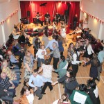 Wir hall in full swing on Up Helly Aa night